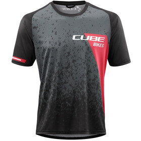 Cube Edge Jersey T-shirt Ronde Hals Heren, green´n´red